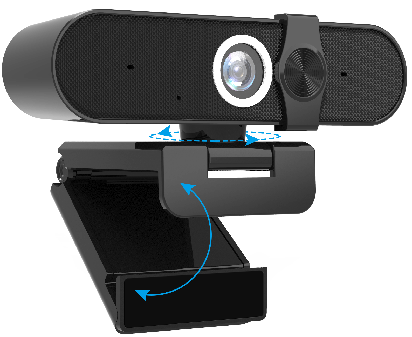 Full HD Manual Focus PC computer Video conference Webcam with slider cover