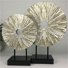 Creative New Design Resin Home Decoration   Decorative Furnishing  Radiating Round Screen Entrance Display Ornament Gift OEM ODM