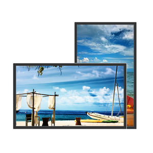 32 inch video broadcast non-touch advertising split screen player digital signage and displays