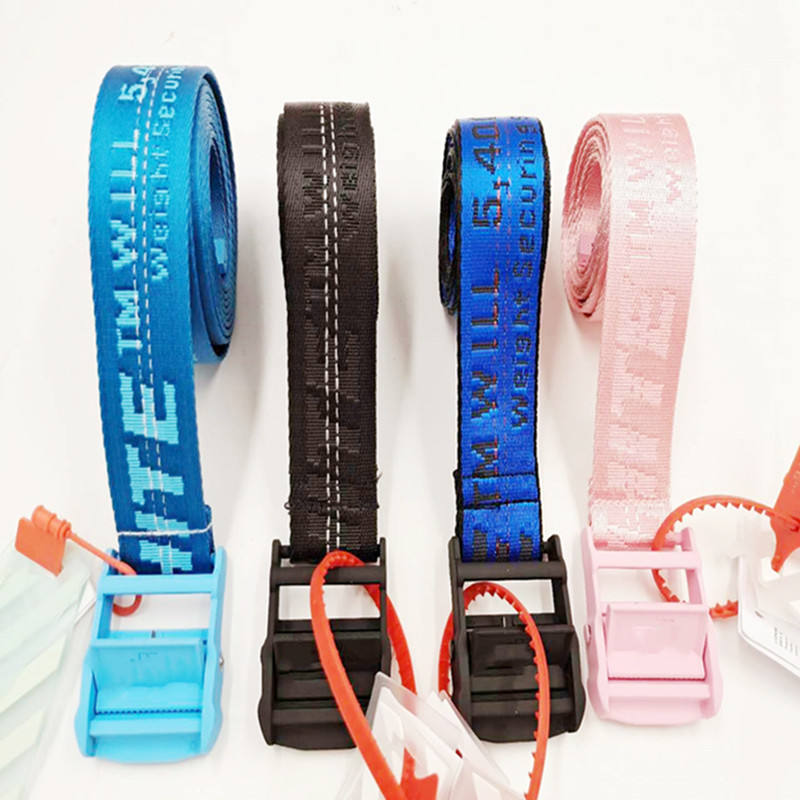 Wholesale 50% Off Yellow Black Pink White Color Belt For Men Woman Girl Cotton Nylon Belt 200Cm