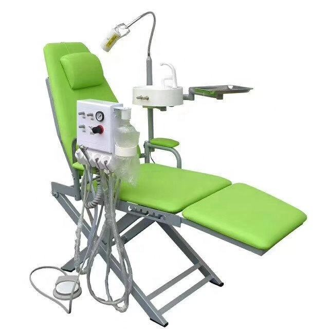 Hot sale portable dental unit price with compressor/Portable dental unit cheap dental Folding Chair Mobile Dental chair unit