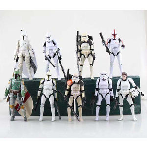 2019 Groothandel Goedkope Black Knight Stromtrooper Hot Anime Film Starwars Mini Collection Pvc Action Figure Model Speelgoed