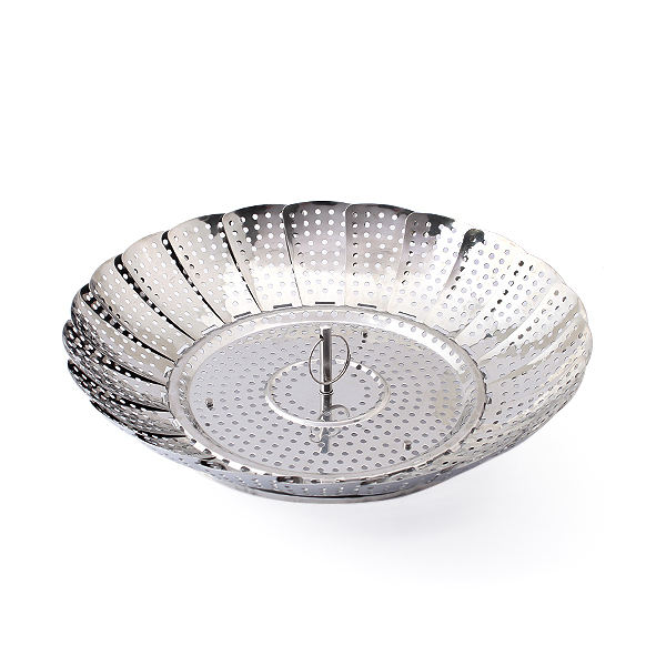 Stainless steel foldable vegetable steamer basket adjustable collapsible