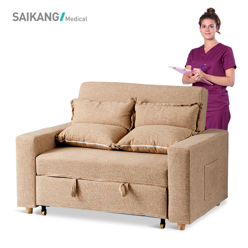 SKE001-4 High Quality Modern Design Multi-purpose Accompany Hospital Foldable Sofa Chair Bed