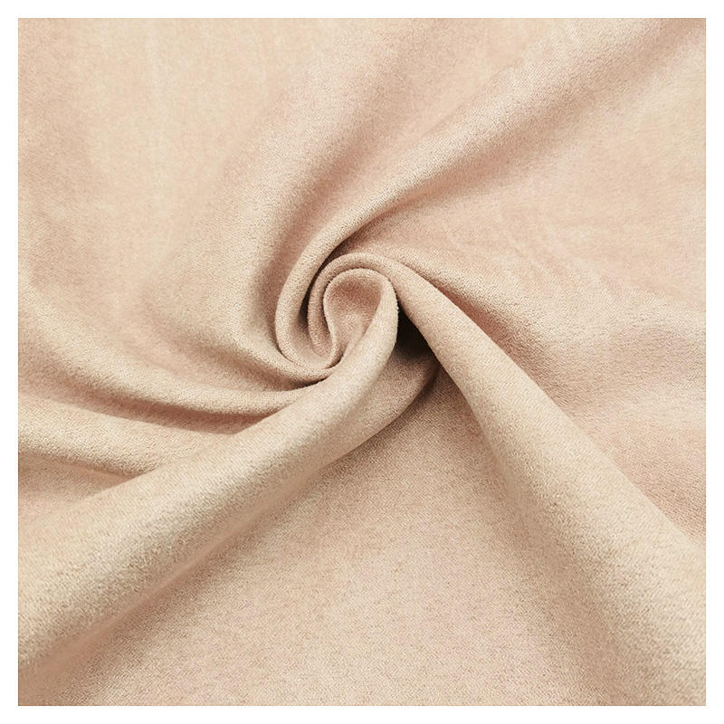 suede fabric high quality 100% polyester soft plain dyed multicolor brushed fabric for garment