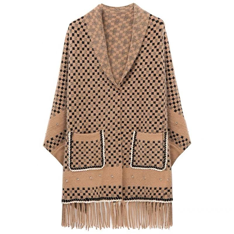 OEM fancy multicolor winter wrap latest cheap prices shawls with sleeves for ladies