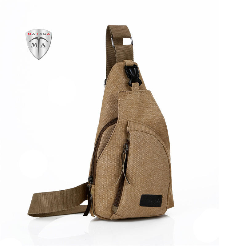MTA Korean Casual Unisex Sports Canvas Chest Bag Multi-function Crossbody Sling Bag