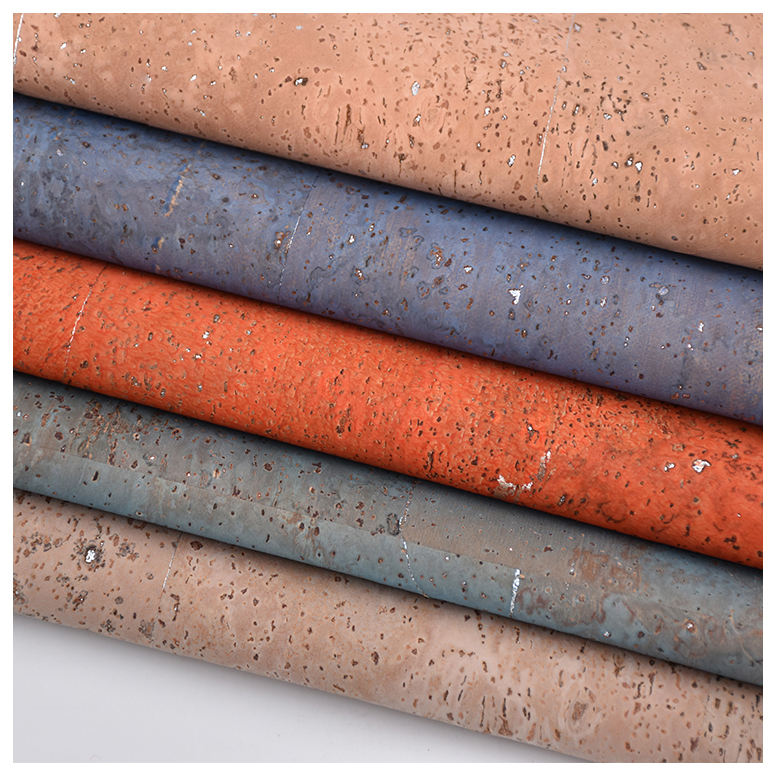 wonder Elastic Cork Leather Fabric Colorful Natural Textile