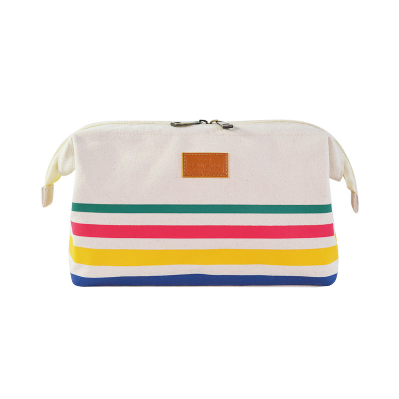 Rainbow Canvas Cosmetic Pouch with Customized Logo Portable Make Up Bags Toiletry Bags Special Design Top-Rated Bags for 2021