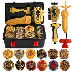 Kids Spinning Top 17 PCS burst alloy gyro set toy with box