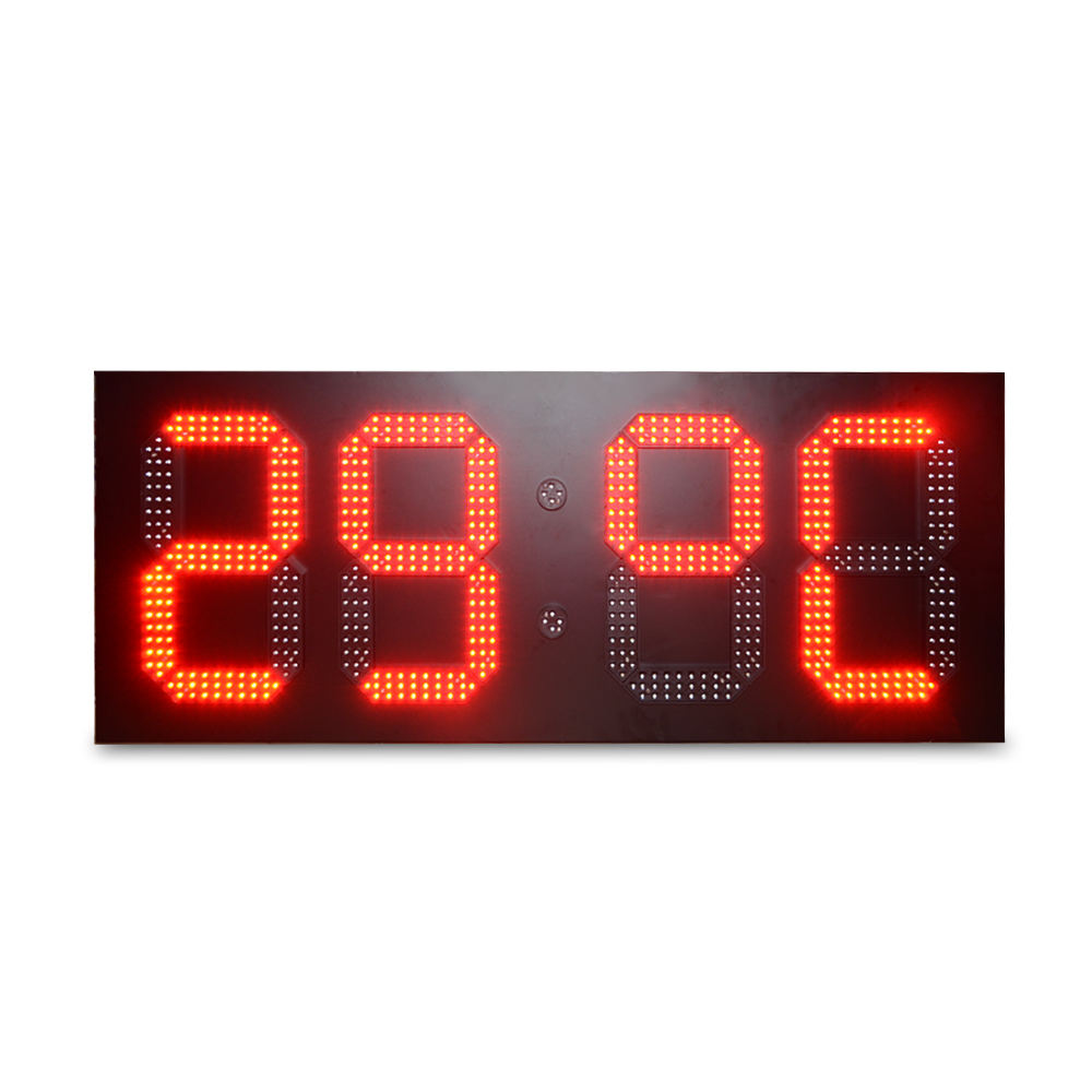 gas station led price sign board large 7 segment display for outdoor price board led gas price led display panel sign