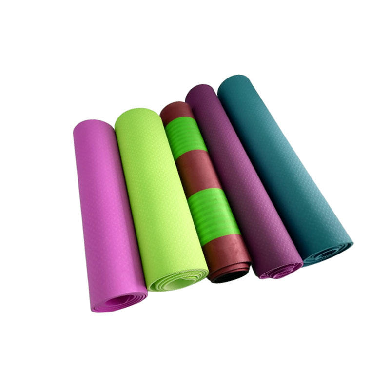 Personalized 6ミリメートルEva Foam Thick Suede Printed Pu Custom Eco Friendly Tpe Pilates Yoga Mat With Logo