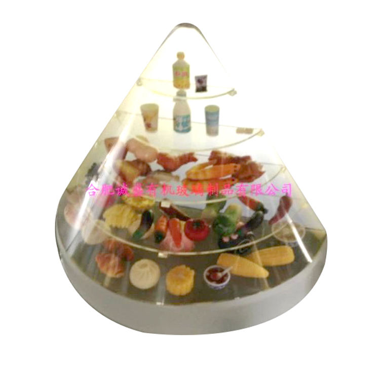 Supermarket Small Box Clear Acrylic Food Pyramid