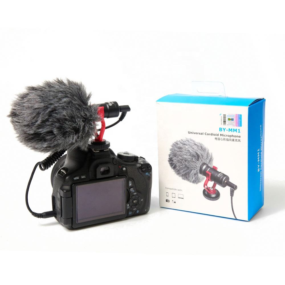 BY-MM1 Professional Usb Condenser Video Recording Microphone For Dslr Camera Smartphones Camcorders Recorder