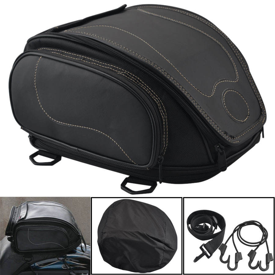 Vintage Multi-functional Motorcycle Tail Bags Back Seat Travel Storage Bag Motorbike Sport Luggage Rear Seat Tail Pack Riding