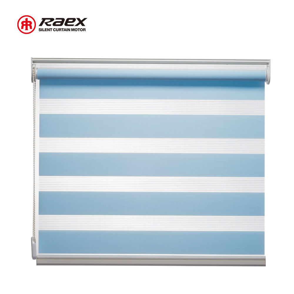 Rodillo Horizontal obturador Color sombra de Pvc cebra persianas para Windows