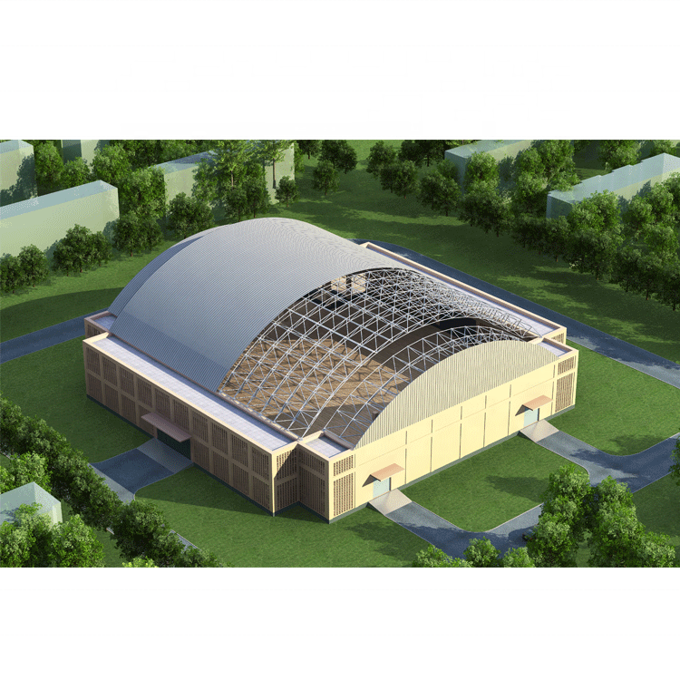 Q235 Q345 Q355 design in acciaio di space frame per prefabbricata <span class=keywords><strong>palestra</strong></span> stadio centro commerciale sport stadio tetto