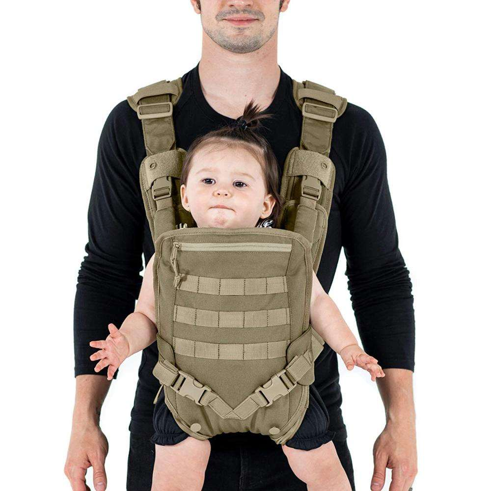 ISO9001 Supplier Soft Breathable Custom Premium Dads Molle Tactical Baby Carrier