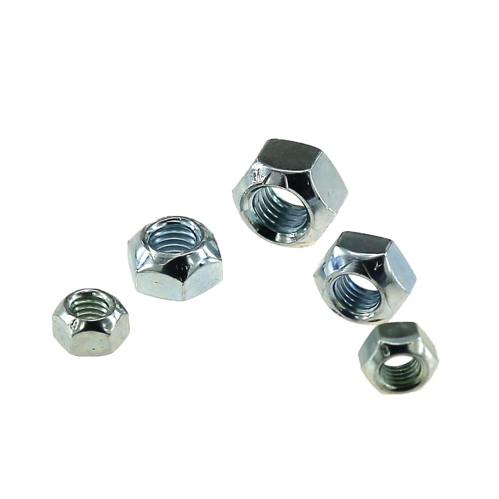 Zinc Plated DIN 980 type V all metal hexagon lock nut