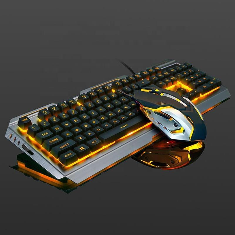Factory direct mechanical keyboard notebook desktop wired gaming mechanical keyboard and mouse set