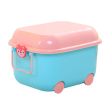 DIY Children Plastic Foldable Case Cabinet Container Toy Bins Boxes Storage Gift Basket