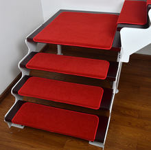 Repeatable washing rubber stair mats( step mats) Polyester stair tread mat