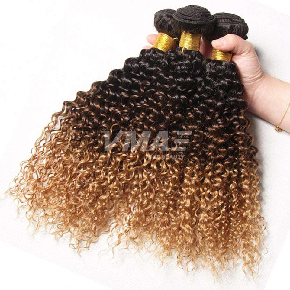 VMAE High Quality Cheap Burmese Cambodian Ombre Kinky Curly Red Purple Human Hair Extension Weave