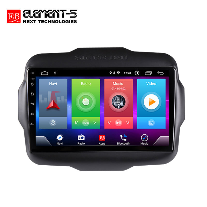 ELEMENT-5 4G SIM Karte DSP Carplay Auto Stereo Multimedia <span class=keywords><strong>Player</strong></span> Auto Radio 2 + 32G 9 zoll FM AM Auto Radio Für Renegade 2016-20