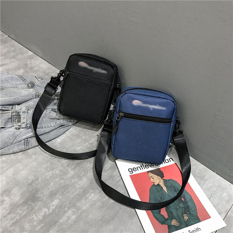 Customize stripe (eiffel tower) 패턴 zipper closed mini canvas 크로스 바디의 messenger bag