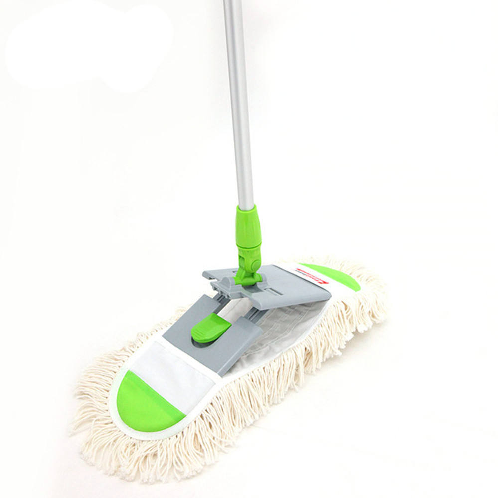 Aluminium Telescope Handle Floor Cleaning Flat Mop Head, floor cleaning mops easy to use, high quality cheap cotton floor mop