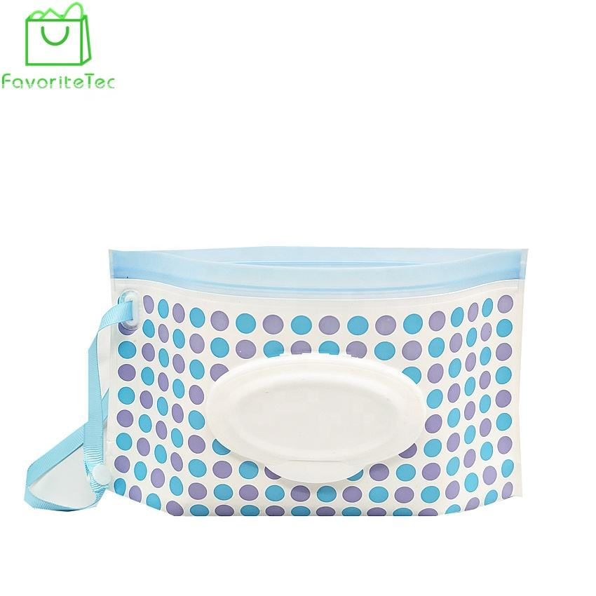 Wholesale Bpa Free Eva Plastic Wet Wipes Container Refillable Wet Wipes Package Bag