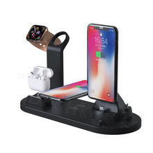 Fast charge charging stand rotating 3 in 1 wireless charger dock charging station for iphone for airpods for Apple watch