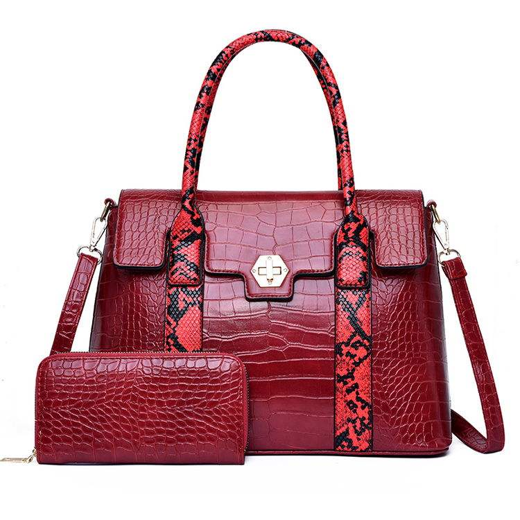 Wholesale Fashionable Snake Skin Shoulder Bag Womens New Design Handbags And Purses
