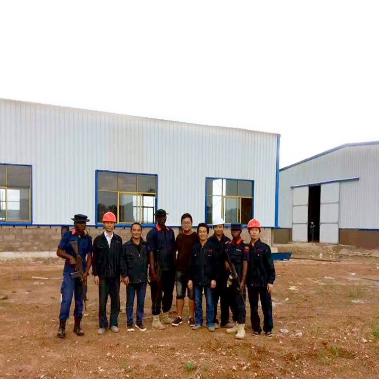 Customized low cost prefabricated steel structure warehouses in ghana