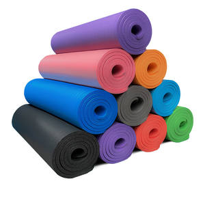 Sports Fitness Nbr Yoga Mats Non Slip Strap Gym Mat Wholesale Cheap Exercise Yoga Gmy Mat With Straps And Bag Set