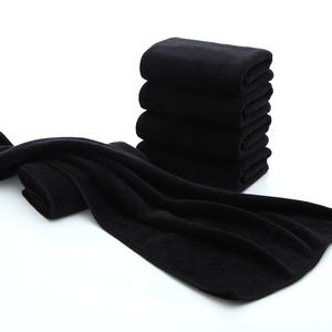 factory bleach proof microfiber turban hair drying black salon towels