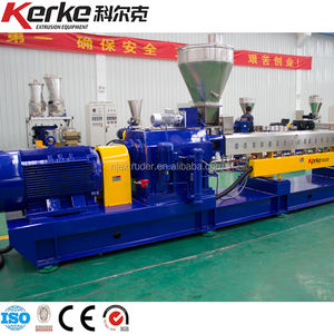 Fluorine plastic PTFE granulating Double screw extruder | Co-rotating parallel twin screw machine