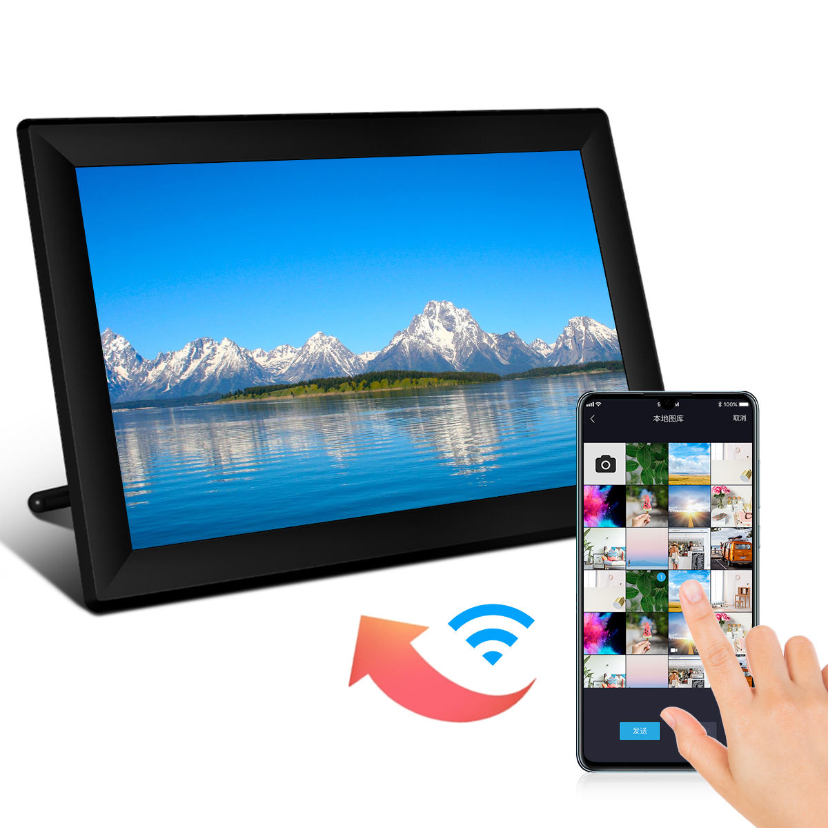 2020 NEW Private Model 10.1 Inch FHD Touchscreen WIFI Digital Photo Frame with video input