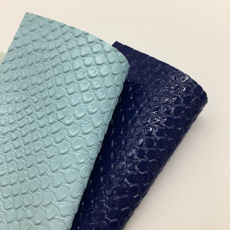 Embossed crocodile skin PU faux leather for making lady bags and shoes materials