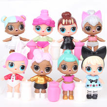 High Quality Hot Sale PVC  Princess Doll Set  8 Pieces Dolls  Dolls set Model Toy in 2020