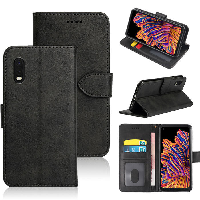 high quality cell phone leather wallet case for Samsung Galaxy Xcover Pro