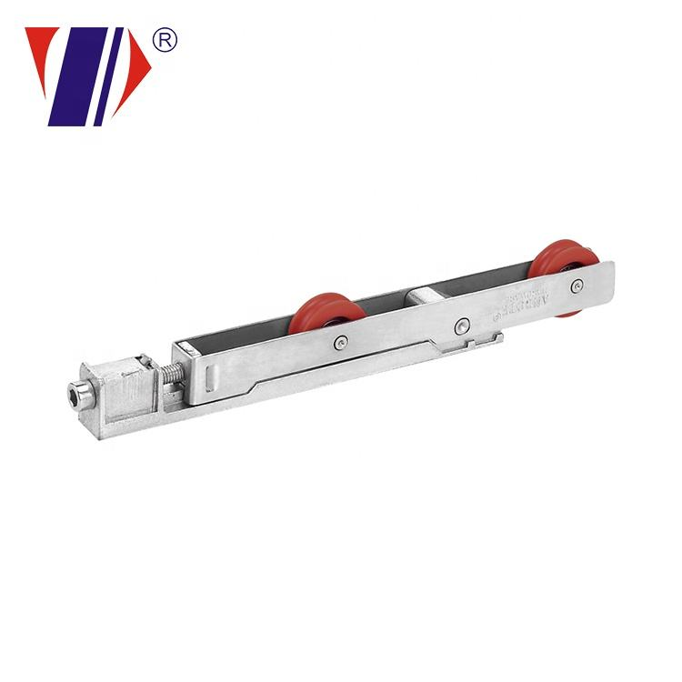 Aluminum alloy plastic roller for sliding door