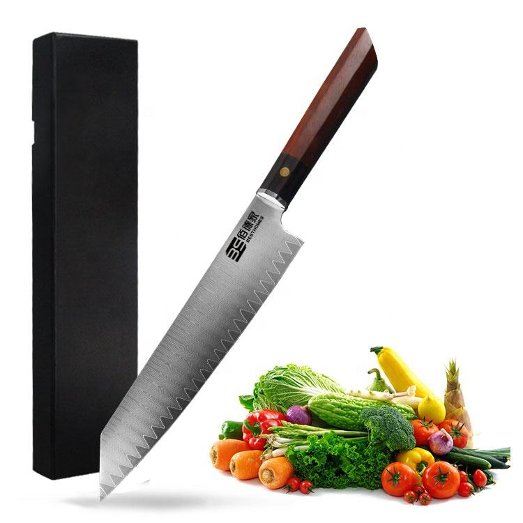 Tinderala Kitchen Knife 8 inch Professional Japanese Chef Knives Damascus Stainless Steel Meat Cleaver Slicer Santoku Knife