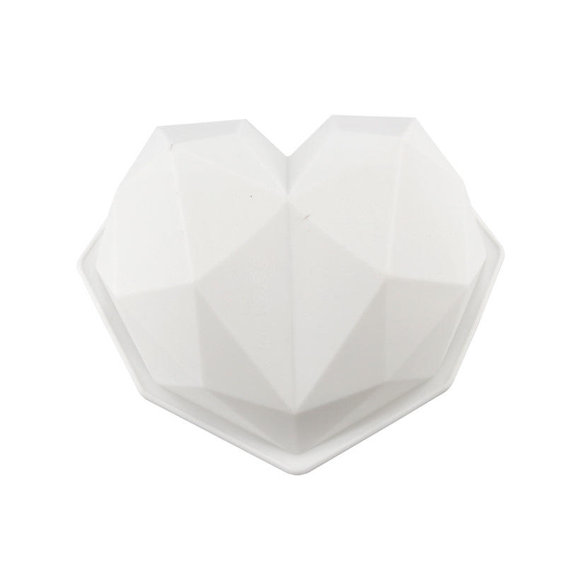 High quality Mirror Diamond heart shape silicone mold for cake, mousse cake mold
