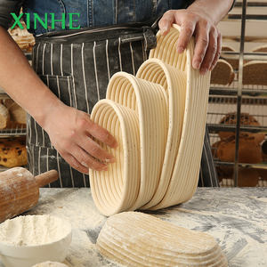 Oval Handwoven Natural Rattan Bread Long Proofing Basket/ Proofing Basket Baking Set