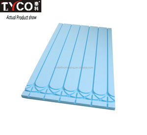 Grooved XPS Insulation Panel for Hydronic Radiant Floor Heating System