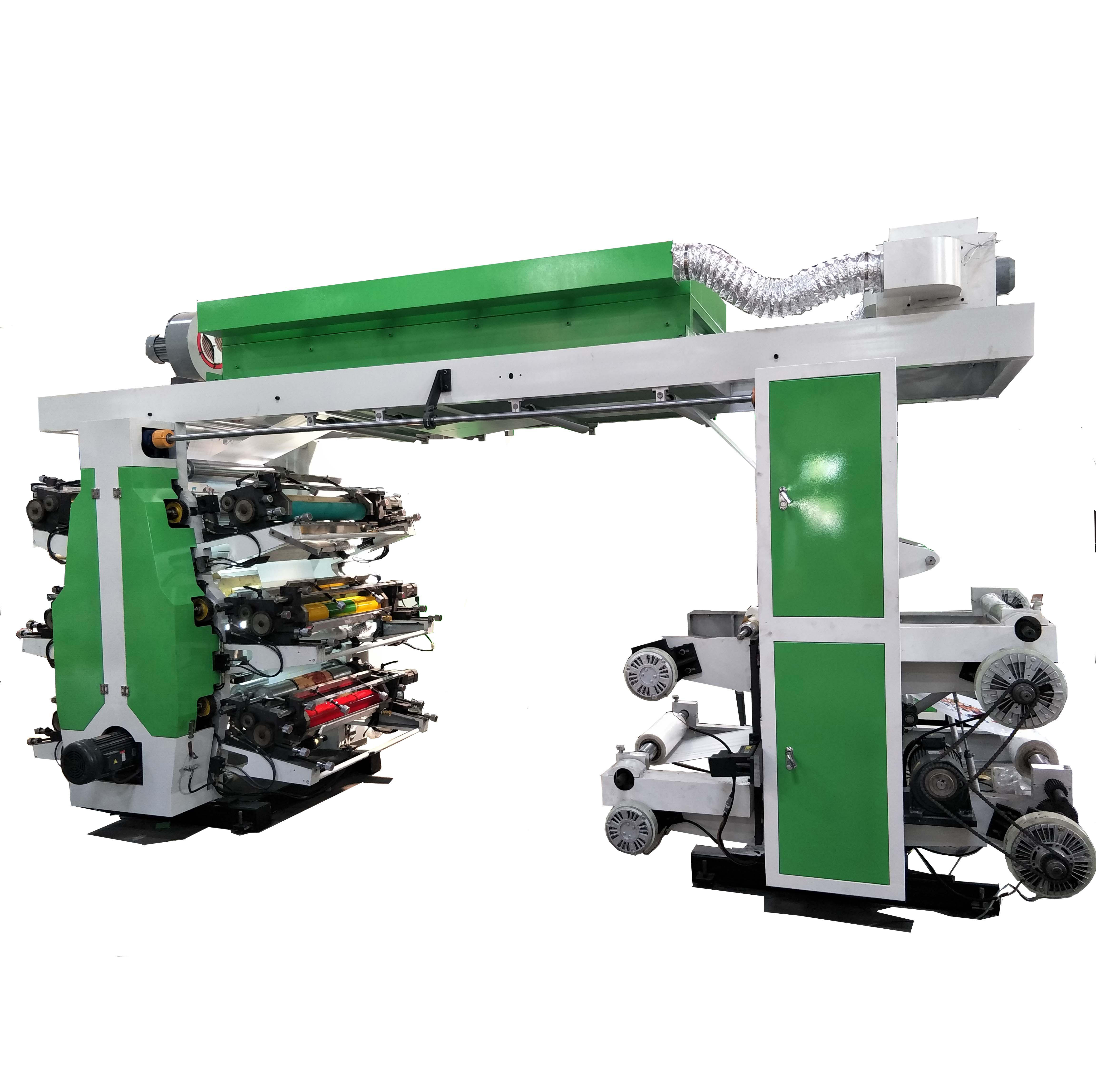 6 COLOR Central Impress flex printing machine for plastic