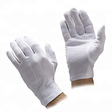 DDSAFETY Light Medium Weight Cotton Inspector Parade Work Gloves