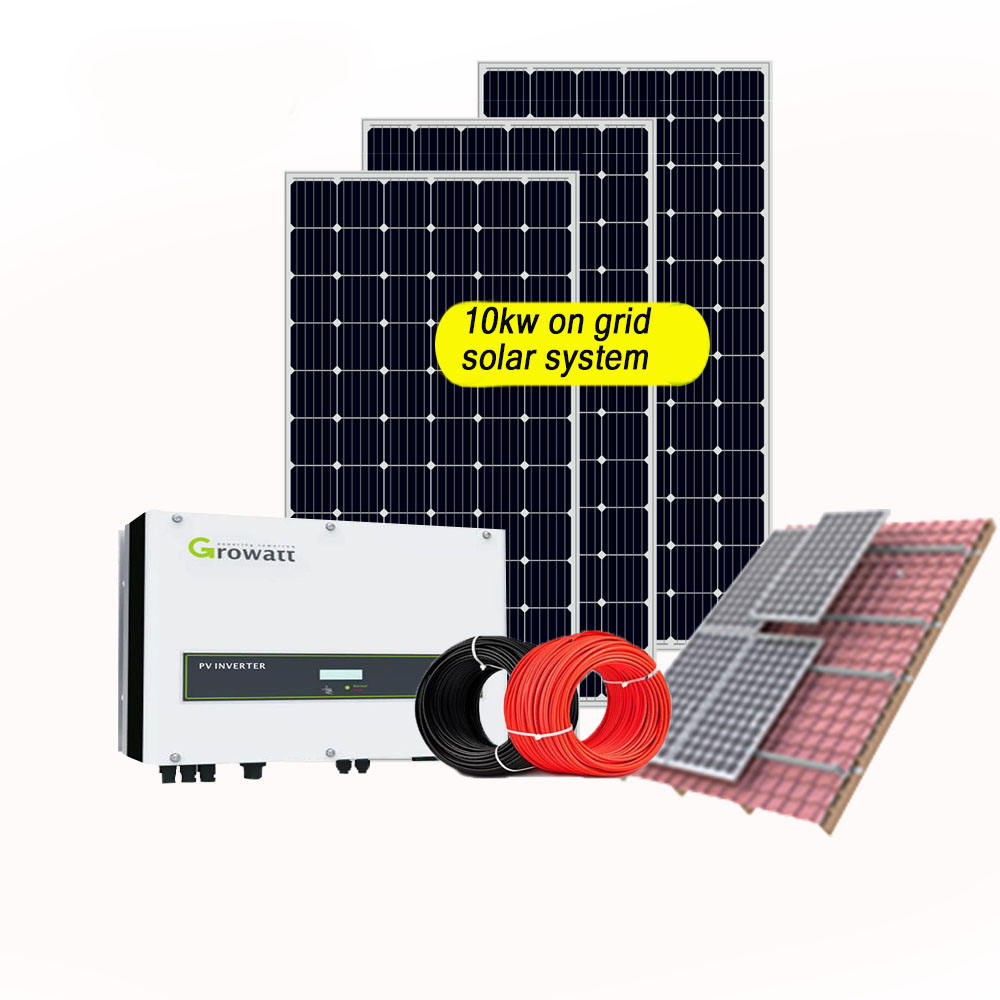25 years warranty 5kw 8kw 10kw good price grid tied solar energy system for home