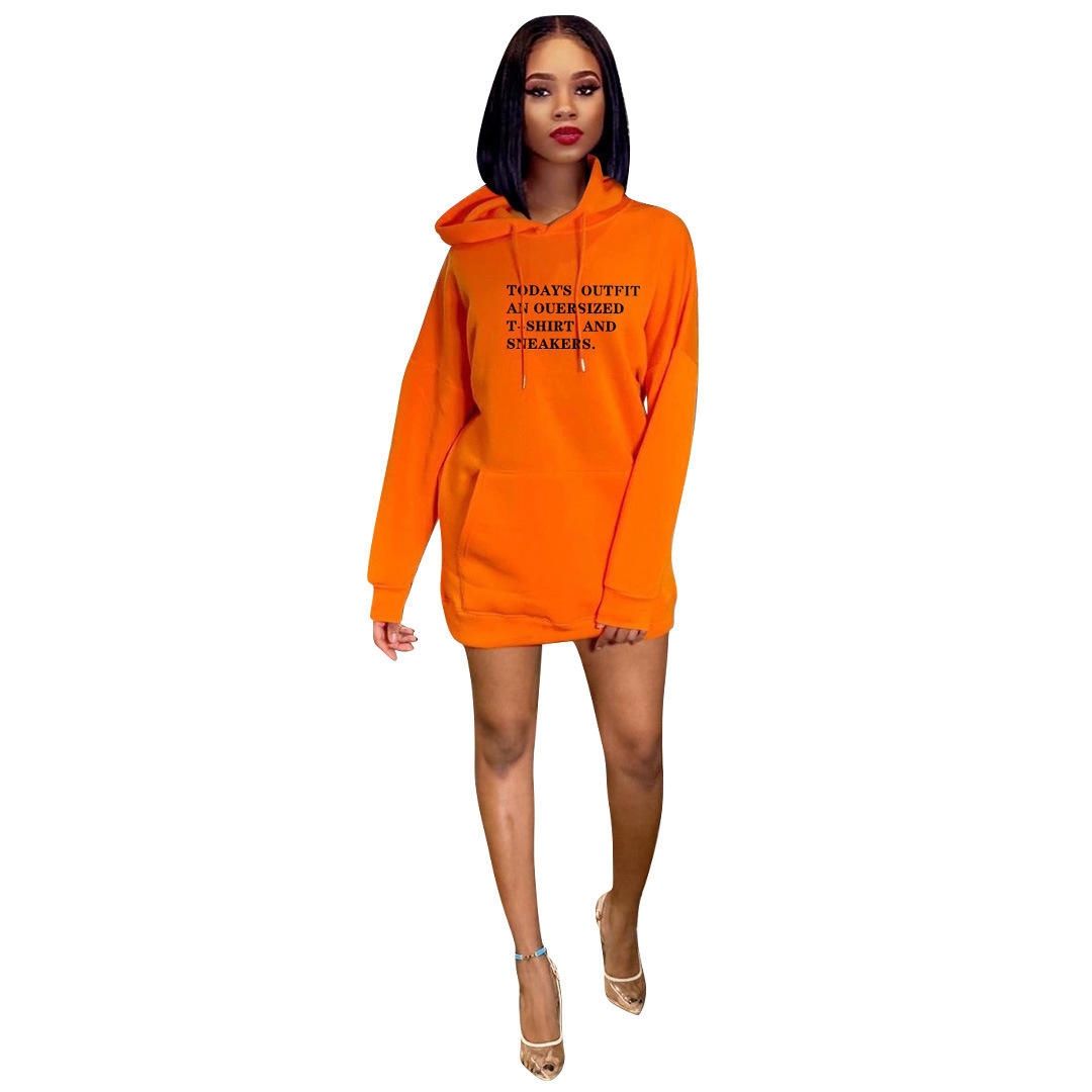Hot sales Christmas fleece hoodies women long sleeves casual dress lady clothes fall new arrival 2020 t shirt dress winter cloth
